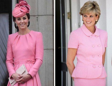 Kate Middleton ve Prenses Diana Pembe Kıyafetleri