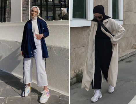 Touche Kot Kimono (Şeyma Kaymak) Touche Bej Yağmurluk (Aysha Mashrabova)
