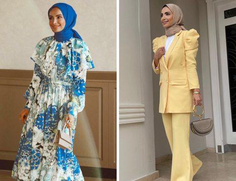 Atelier Pelin Yıldırım Desenli Elbise ve Omuz Detaylı Takım -Betül Gedik