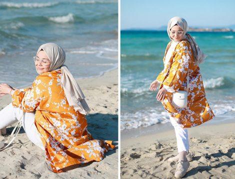Ceylan Otantik Çiçekli Kimono - Harmandalı Ahsen