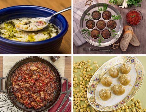 Kırşehir Köme Çorbası - Hatay Antakya'dan Yumurta öccesi ve Belen Tava - Çorum'dan Karaçuval Helvası