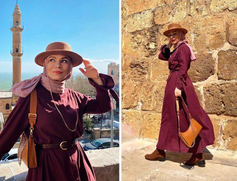 Normcore Elbise ve Şal - Büşra Karagöz
