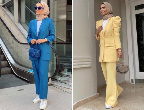 Venove Koleksiyon Mavi Takım - Atelier Pelin Yıldırım Sarı Takım Betül Gedik
