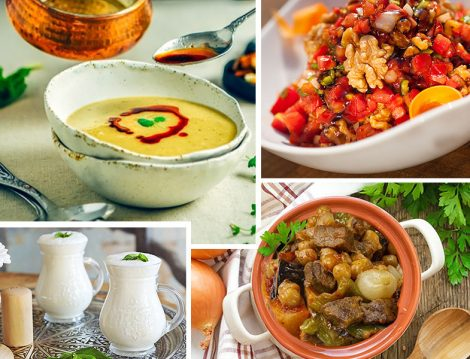 Çeşminigar Çorbası - Gavurdağı Salatası - Ramazan Kebabı - Ayran ile İftar Menüsü