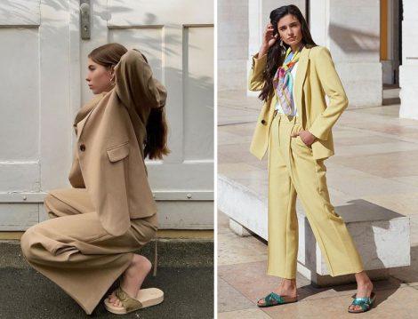 Ceket-Pantolon Takım ve Terlik Modası