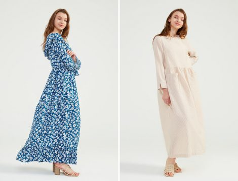Desenli Elbise Modelleri 2021