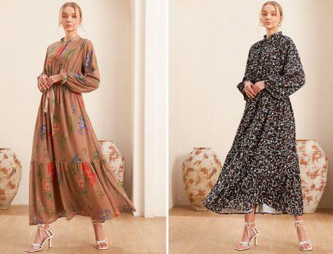 Essprive markasının çiçekli elbise modelleri