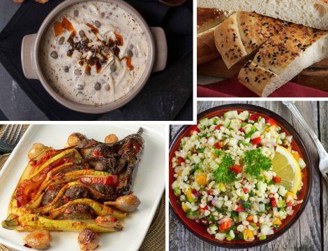 Ramazan İftar Menüsü: Tutmaç Çorbası- Karnı Dilik- Bulgur Salatası - Pide