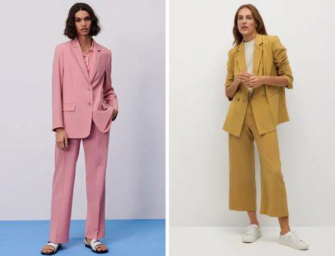 Zara Uçuk Pembe Cepli Blazer Ceket - Mango Hardal Çapraz Düğmeli Blazer Ceket