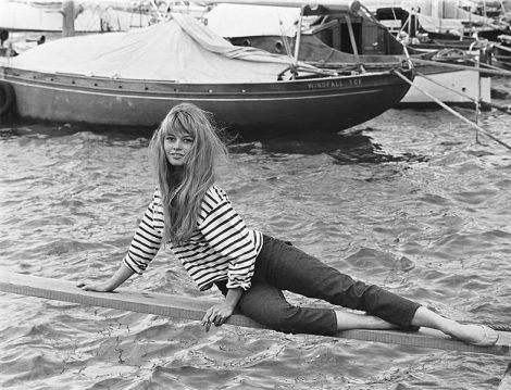 Çizgili Tişört Modası (Brigitte Bardot)