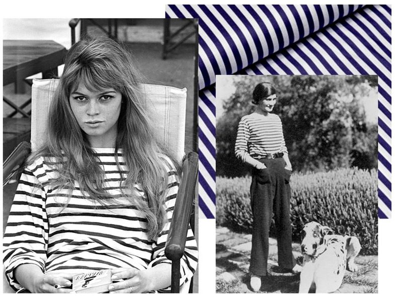 Çizgili Tişört Modası (Brigitte Bardot ve Coco Chanel )