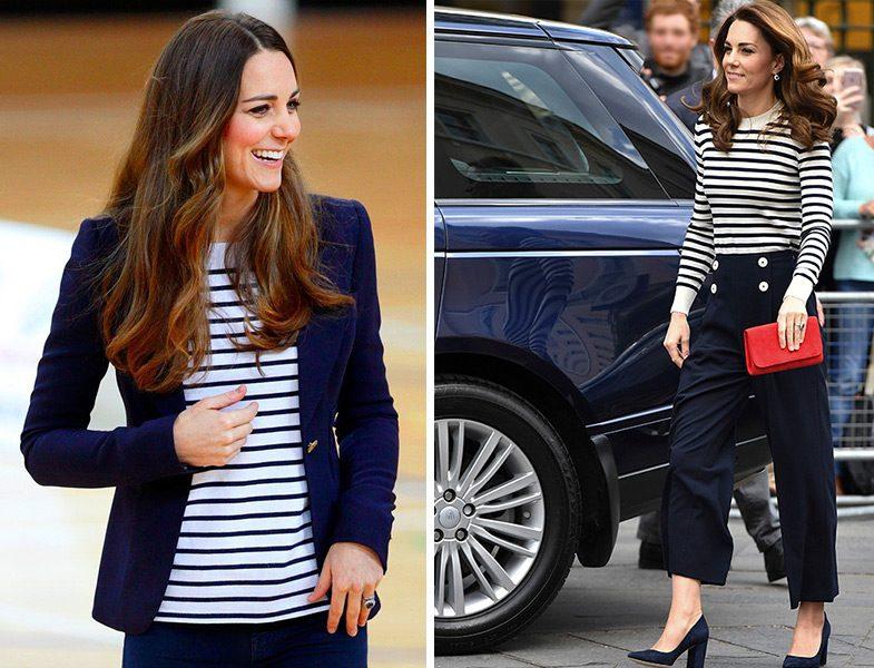Çizgili Tişört Modası (Kate Middleton)