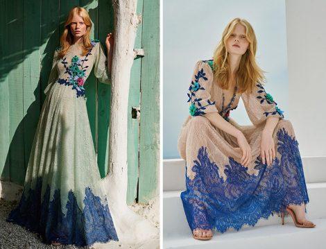 Costarellos Üç Boyutlu Çiçek ve Güpür Detaylı Elbiseler