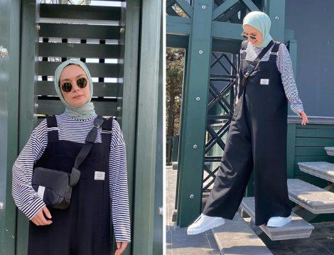 Fahhar Design Çizgili Tişört ve Tulum (Şüheda Türkoğlu Hatun)