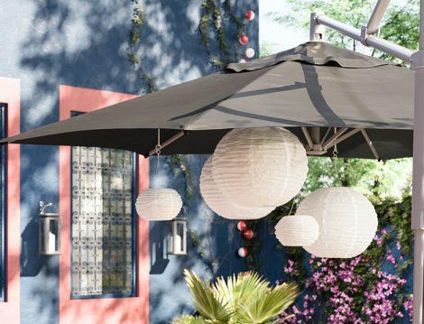 IKEA Balkon Şemsiyesi ve Aydınlatmalar