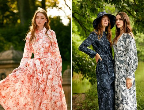Lela Rose Kelebek Desenli Elbiseler
