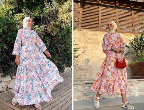 Hilay Desenli Elbise - Ebru Sever Türk & Esma Günöz Desenli Elbise - Sena Sever