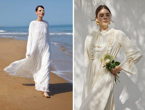 Kevser Sarıoğlu Büzgülü Şifon Elbise - Kadriye Baştürk Fırfır Detay Elbise