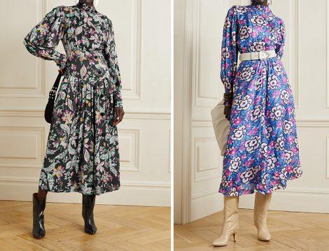 Çiçek Desenli Elbiseler - Isabel Marant