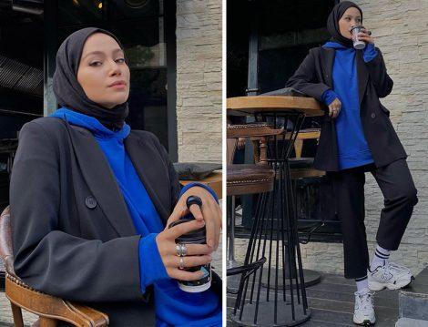 Kapüşonlu Sweat & Blazer Ceket - Ecmel Kılıç